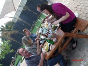 Enjoying the food