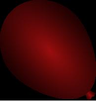 Dark red balloon